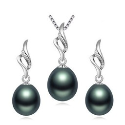 Комплект Natural pearls Black